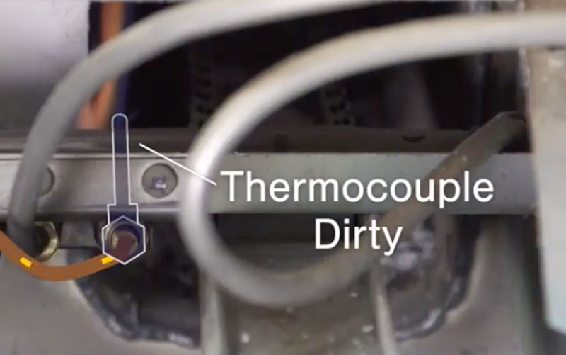 thermocouple dirty